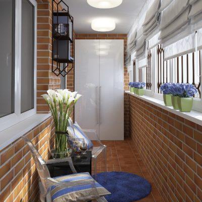 Фото 1 - ремонт балкона в стиле лофт