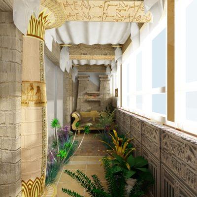 Фото 6 - ремонт балкона в египетском стиле