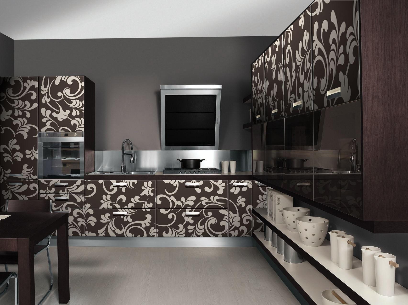 Дизайн кухни с узорами фото