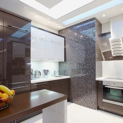 Фото 4 - ремонт кухни своими руками в коричневых тонах
