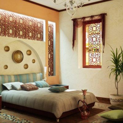 Фото 2 - восточный стиль в интерьере спальни