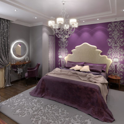 Фото 3 - ремонт спальни в квартире в стиле барокко