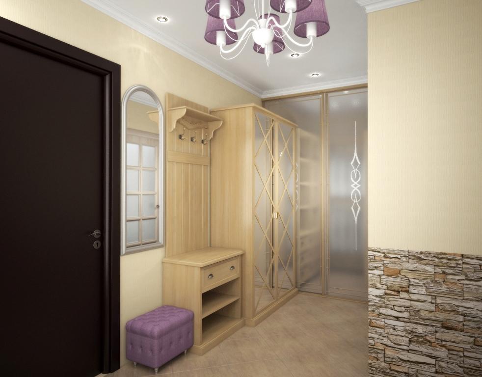 Искусственный камень дизайн при отделке квартиры 45