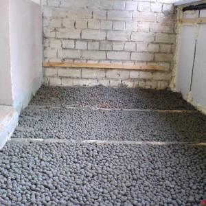 Теплоизоляция пола балкона керамзитом