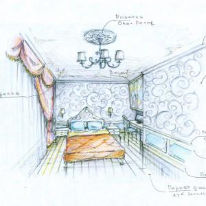 План спальной комнаты
