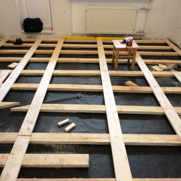 Подготовка основания под укладку нового деревянного пола