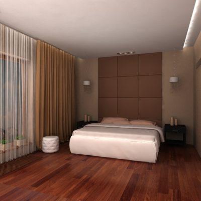 Фото 5 - оформление изголовья кровати мягкими панелями