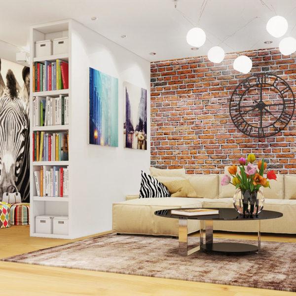 Фото 2 - элементы стиля лофт в интерьере квартиры