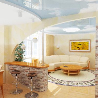 Фото 5 - арочная конструкция в ремонте однокомнатной квартиры