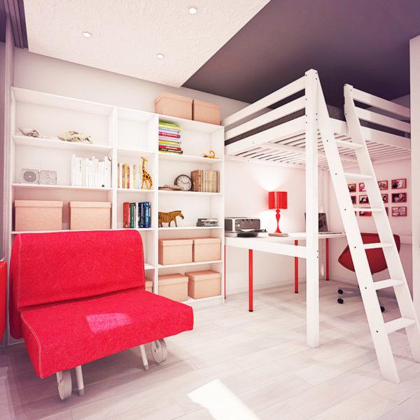 Фото 1 - двухуровневые конструкции в интерьере малогабаритных квартир