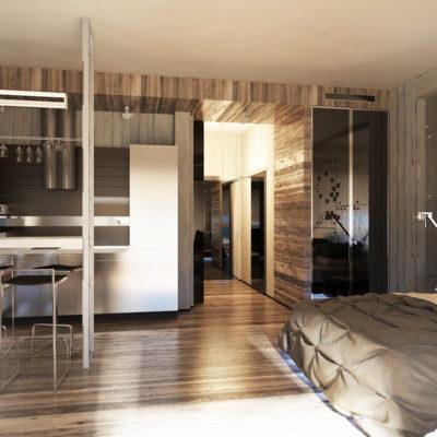 Фото 5 - ремонт квартиры-студии в стиле лофт