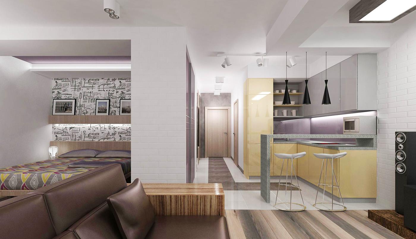 Дизайн хай-тек в квартире