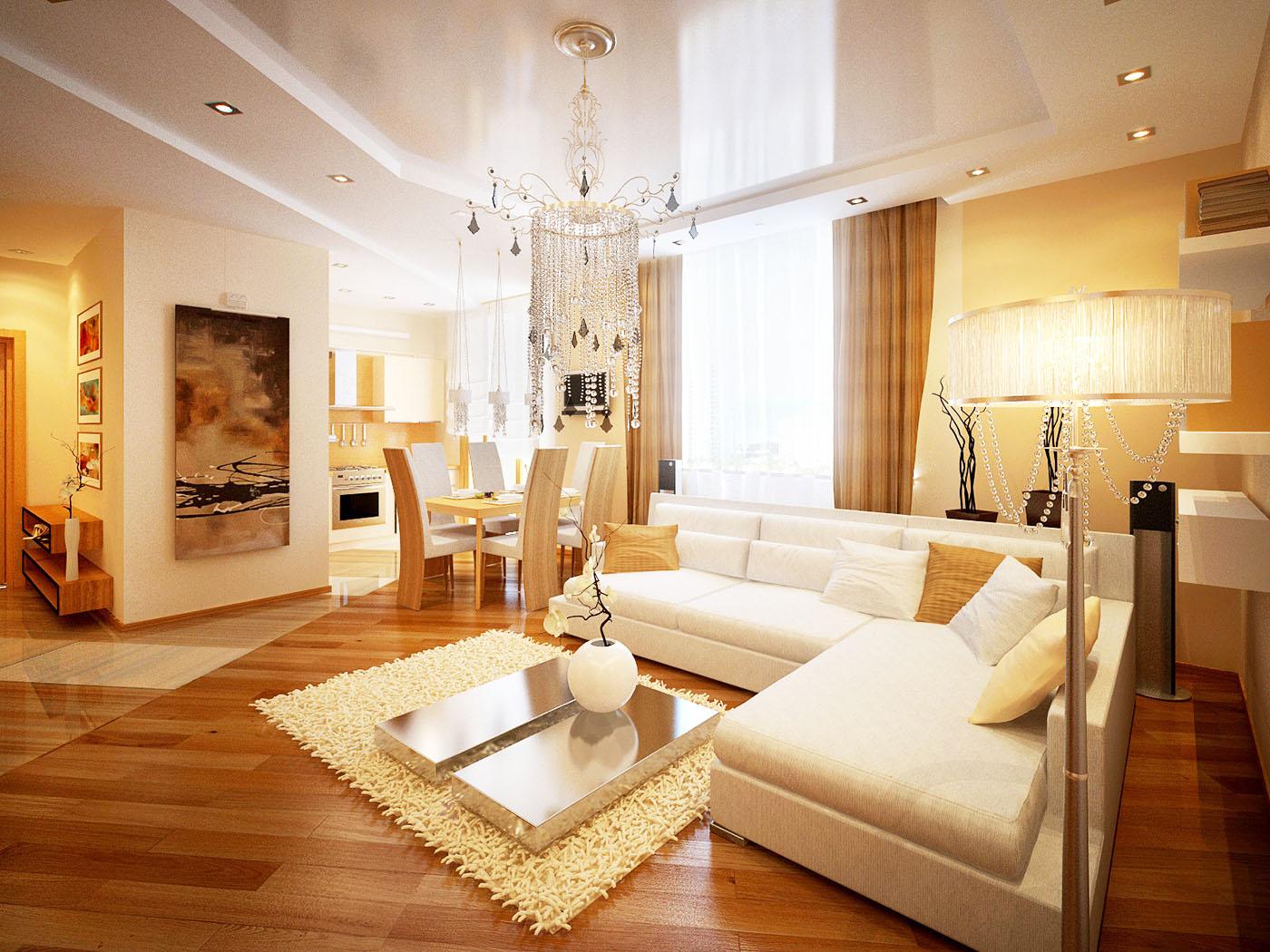 Дизайн интерьера эконом класса гостиной