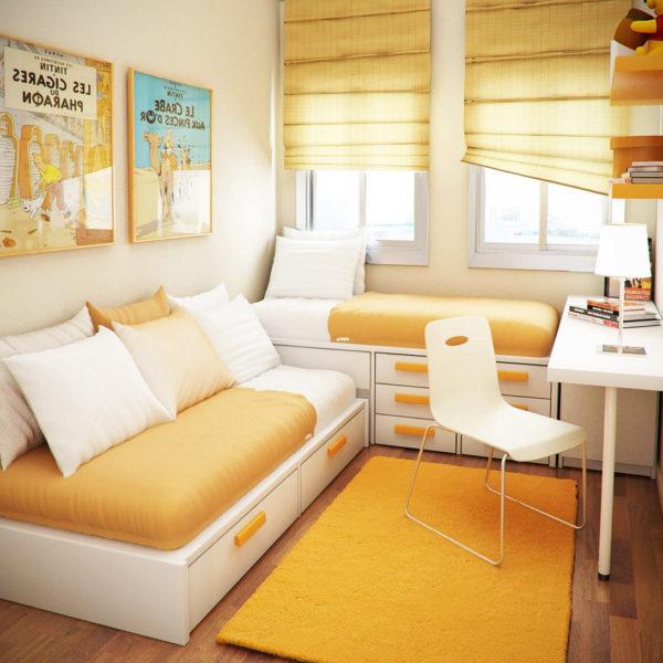 Фото 1 - многофункциональная мебель в деской комнате малогабаритной квартиры