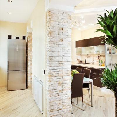 Фото 2 - лоджия как дополнительная площадь кухни