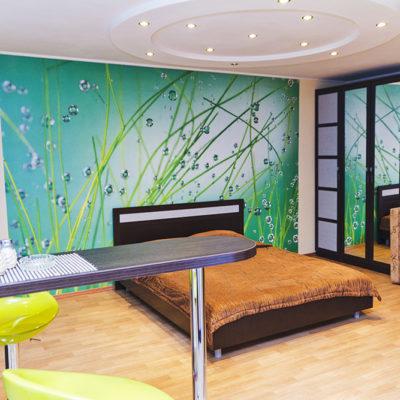 Фото 5 - фотообои в дизайне малогабаритных квартир