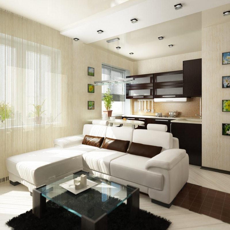 Однокомнатная квартира-студия фото интерьер