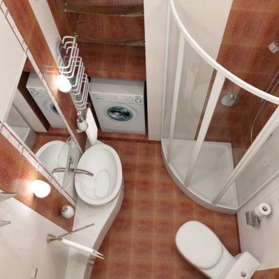 Фото 3 - ремонт компактной ванной, совмещенной с туалетом