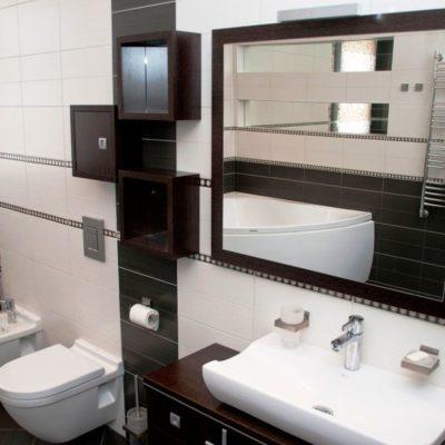 Красивый ремонт ванной комнаты в коттедже