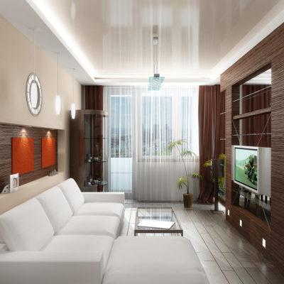 Фото 6 - перегородка между залом и кухней в 1 комнатной квартире