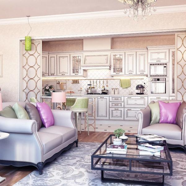 Фото 2 - дизайн гостиной в квартире в стиле модерн