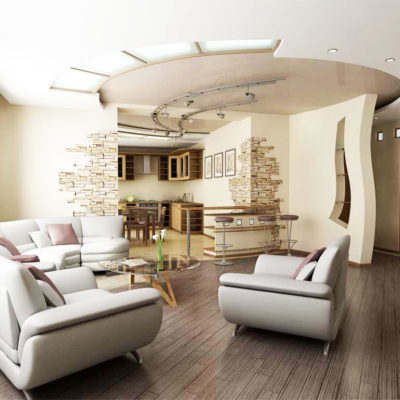 Фото 4 - перепланировка 2 комнатной квартиры в студию