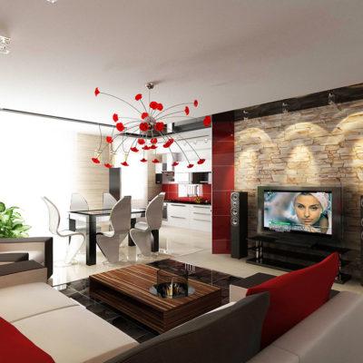 Фото 5 - дизайн квартиры-студии из 2х комнатной квартиры