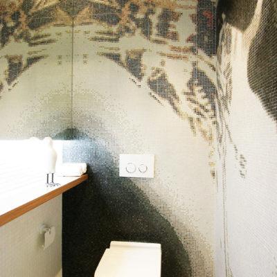 Фото 1 - дизайн интерьера для маленького туалета