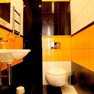 Фото 4 - контрастный дизайн туалетной комнаты