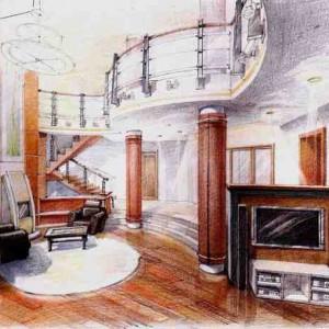 Отрисовка дизайн проекта квартиры