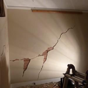 Трещины при усадке дома