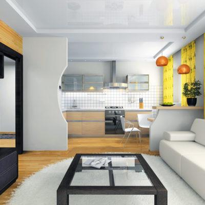Пример зонирования в ремонте квартиры