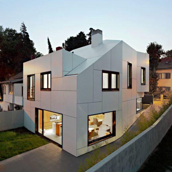 Частный дом с алюминиевым фасадом