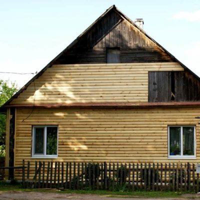 Фото обшивки старого дома блок-хаусом