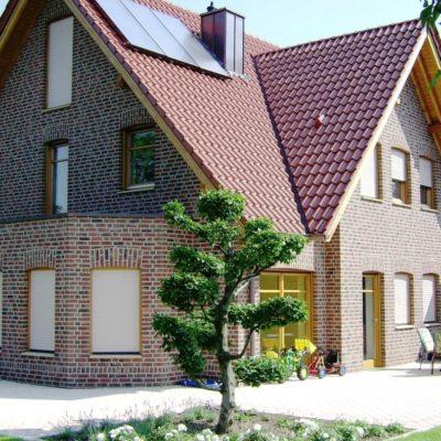Дом в европейском стиле, обшит кирпичом
