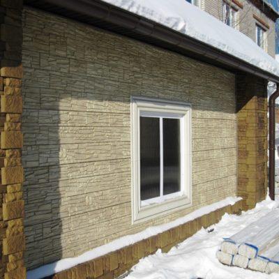 Фото дома обшитого фасадными панелями