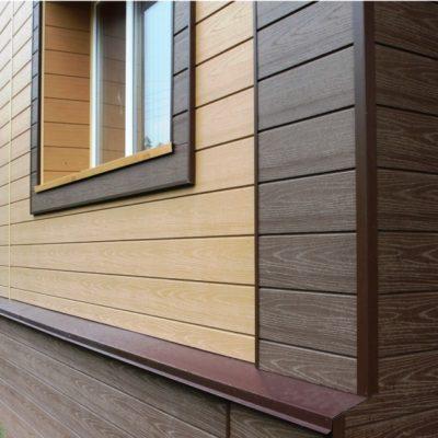 Обшивка дома древесно полимерным композитом - фото №3