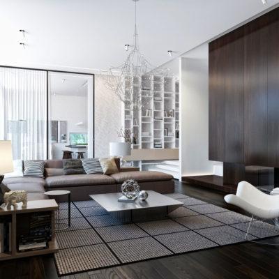 Фото 2 - дизайн квартиры в стиле хай-тек