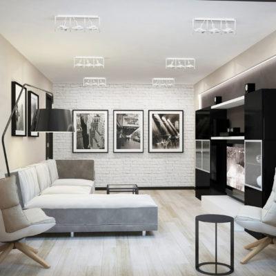 Фото 1 - хай-тек в интерьере современной квартиры