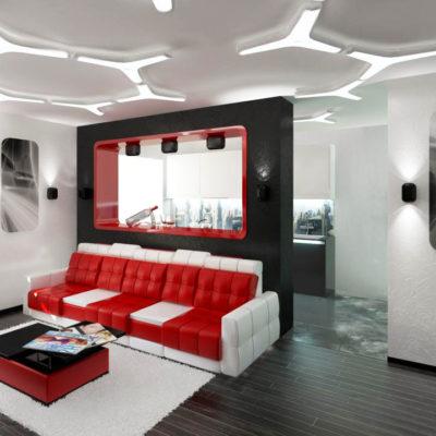 Фото 6 - ремонт квартиры-студии в стиле хай-тек