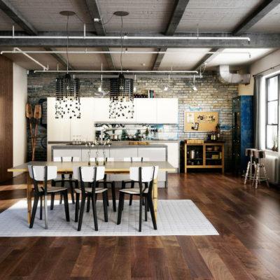 Фото 1 - современный ремонт квартиры в стиле лофт