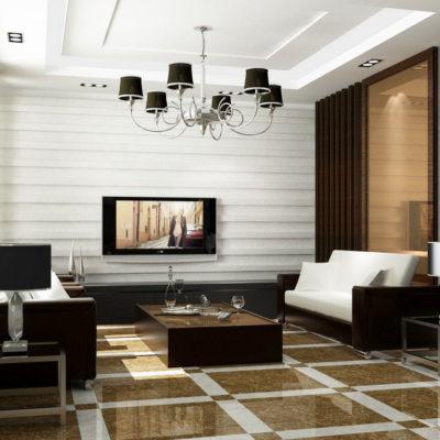 Фото 3 - интерьер гостиной в стиле модерн
