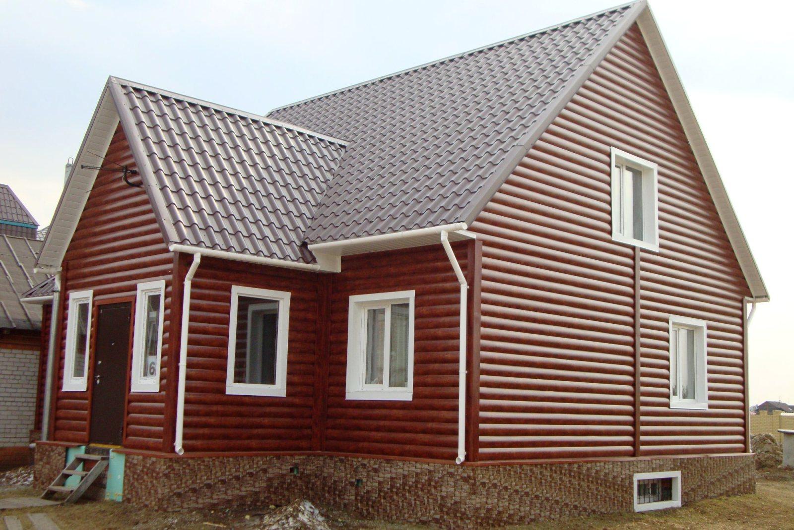 Металлосайдинг обшивка домов фото