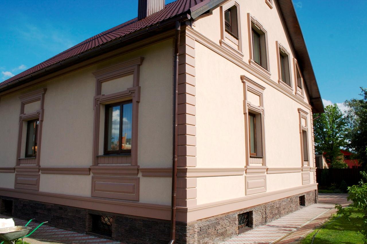 Фасад дома своими руками фото