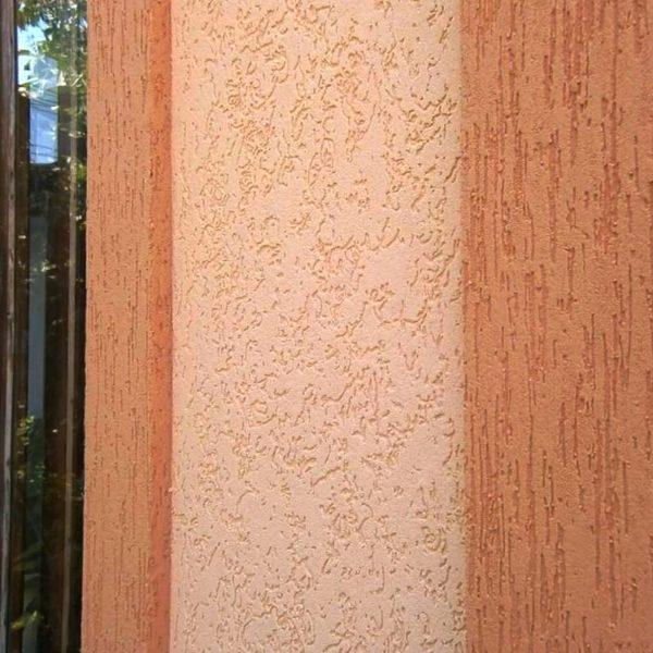 Штукатурка короед - отделка фасада фото №1